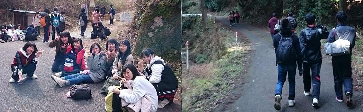 5年生は吉野から学校までを踏破。