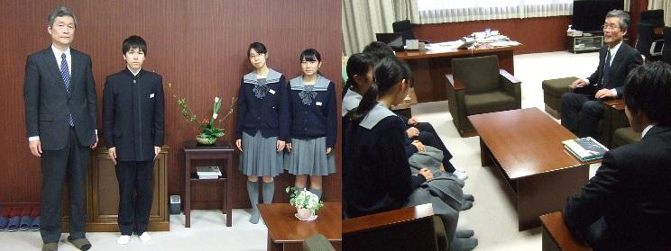 前期日程等で国立大学合格!校長室に挨拶に来てくれました。合格おめでとう!